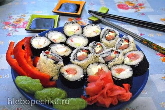 Домашний ресторанчик. Саимаки  (роллы наизнанку) Мои Долматинцы