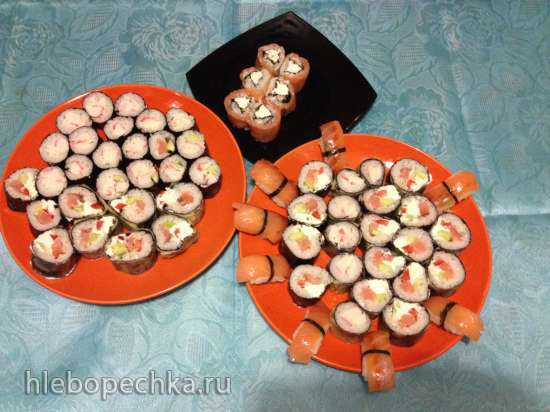 Тэмпура роллы и нигири суши с Sushi Magic