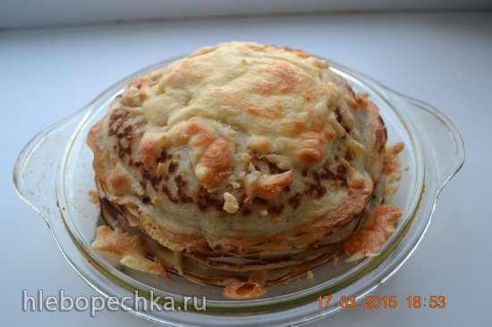 Блинный торт Сырпом