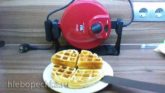 Творожные вафли в вафельнице GF-020 Waffle Pro