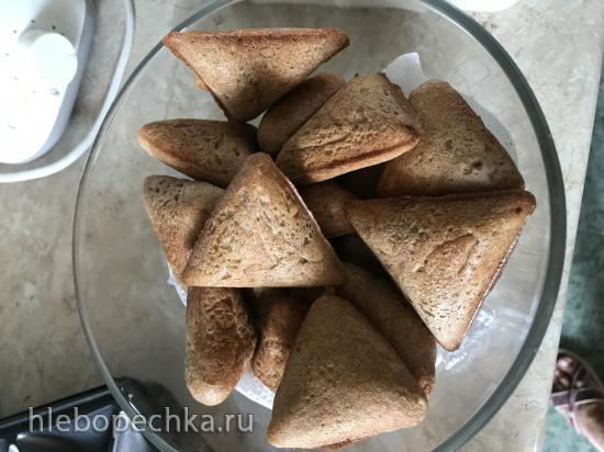 Дрожжевой цельнозерновой хлебушек в приборе Samboussa maker