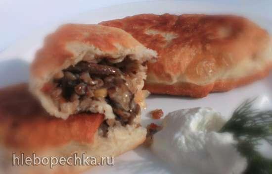 Старосветские пирожки с гречкой, кислой капустой и грибами