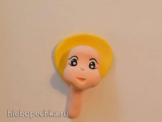 Лепка Принцессы из мастики