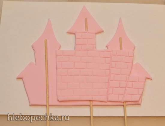 Замок-стеночка из мастики
