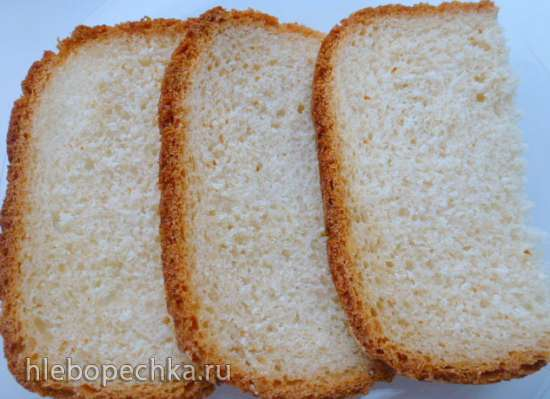 Белый постный заварной хлеб (хлебопечка Brand 3801)