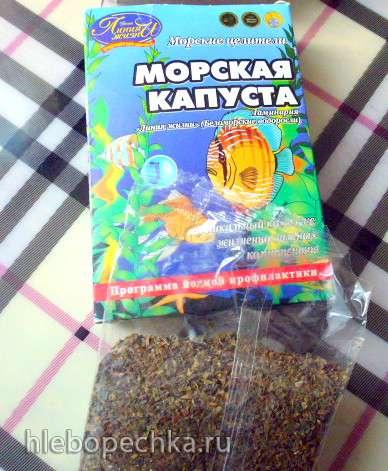 Мультизерновой хлеб на луковой закваске с ламинарией  - морской капустой