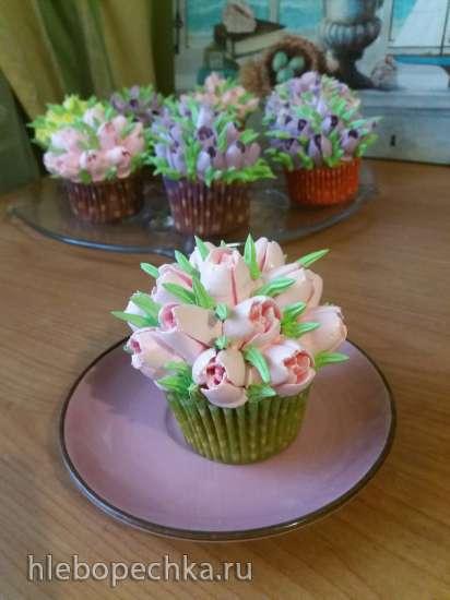 Карамельные капкейки «Тюльпаны для Принцессы»