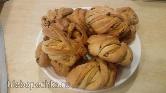 Дрожжевые сдобные булочки Витые