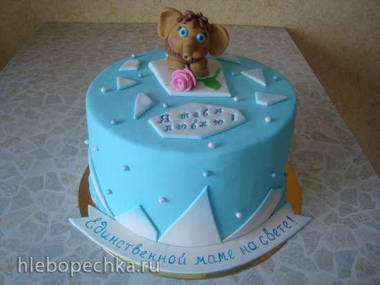 Торт из мастики единственной маме