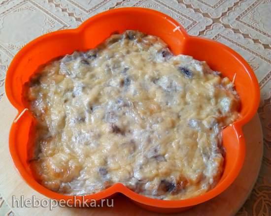Кучерикас - баклажаны, запеченные с творогом, сыром и зеленью