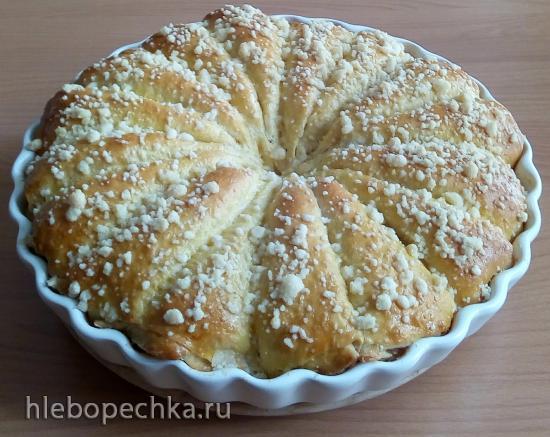 Дрожжевой пирог Яблочные РожкИ