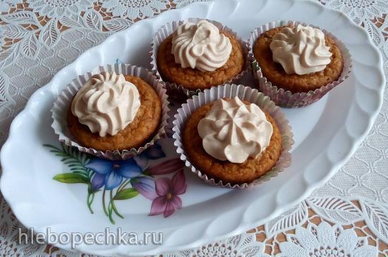 Полезные фруктовые кексы с кремом из ряженки