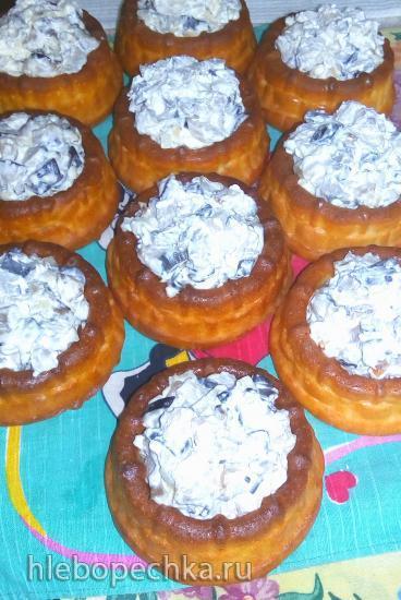 Закусочные лукошки с грибами
