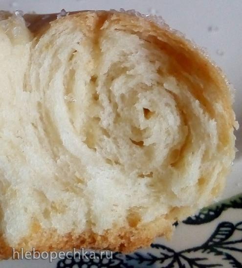 Слоистые «сахарные улитки» из теста на кефире