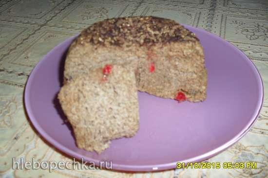 Льняной кекс с сухофруктами в микроволновке