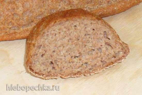 100 % цельнозерновой хлеб из духовки (простой способ)
