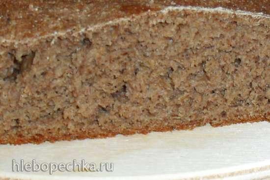Цельнозерновой ржано-пшеничный хлеб с солодом (без замеса)