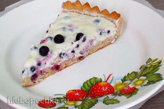 Цельнозерновой творожно-черничный тарт (тарталетки)