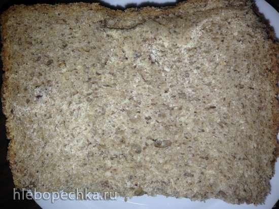 Хлебушек «Здоровье» с кунжутом и льном (цельнозерновой)