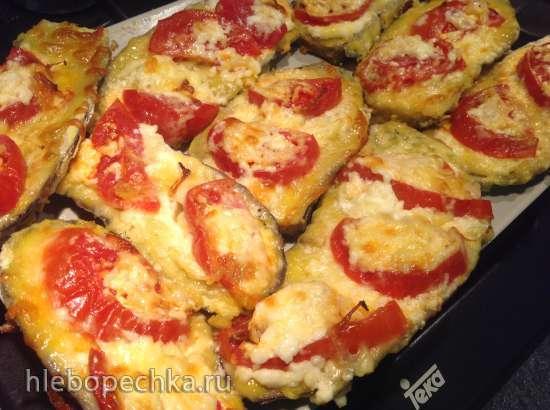 Язычки из баклажан с помидорами и сыром в мультипечи GFgrill