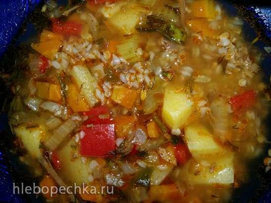 Гречневый суп со сладким перцем и сельдереем в мультиварке Steba DD2