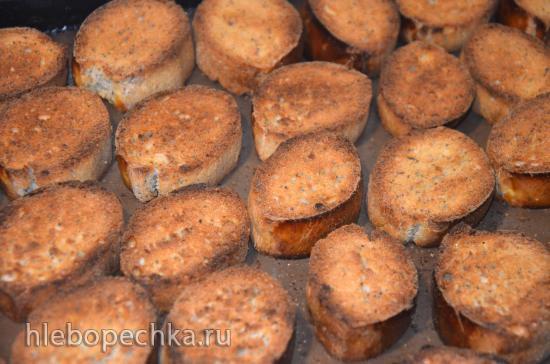 Сухари ванильно-маковые на жидких фруктовых дрожжах