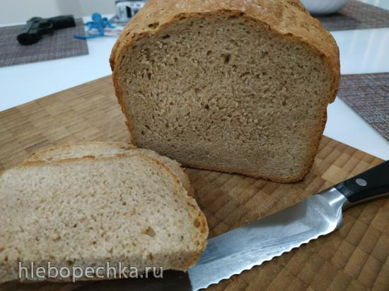Пшенично-ржаной хлеб с цельнозерновой мукой  Крестьянский