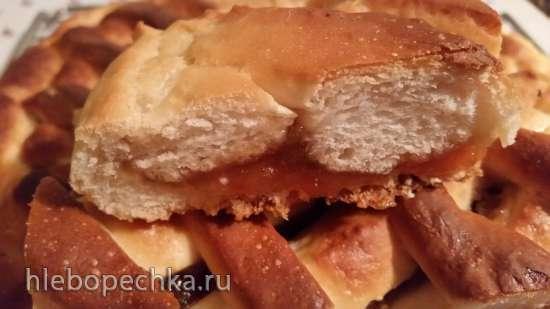 Дрожжевой постный пирог