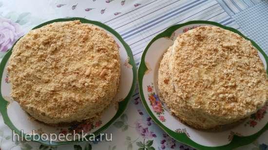 Торт из плавленных сырков на сковороде (2 шт.)