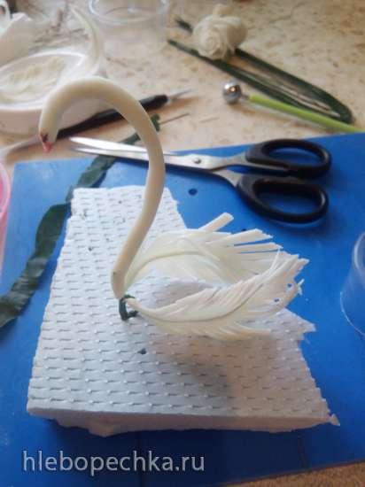 Лебеди из цветочной мастики