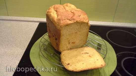 Хлеб пшеничный с медом, сухофруктами и полбяной мукой