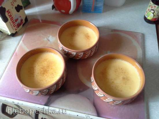 """Сливочный десерт с карамельной корочкой """"Крем-брюле"""""""