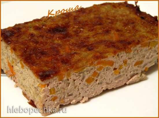 Суфле из печени с капустой