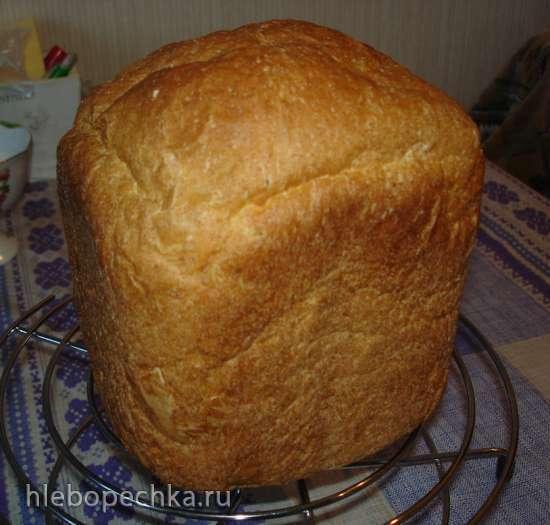 Хлеб из цельнозерновой и пшеничной муки на кефире
