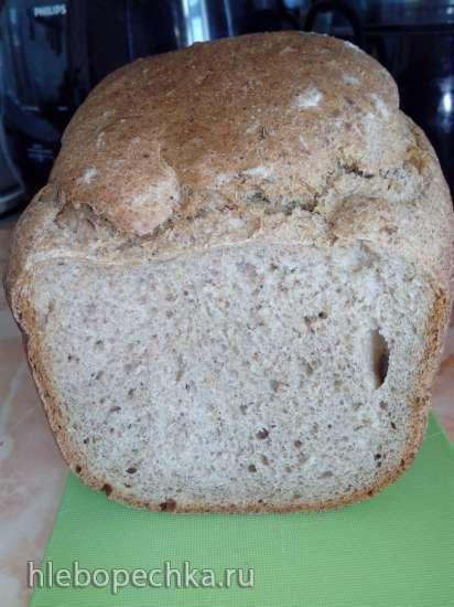 Пшенично-ржаной хлеб на долгой опаре