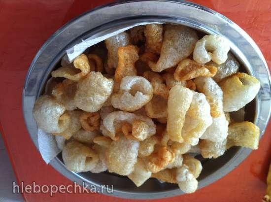 Хрумсалики (Pork Rinds, Chicharron). Шаленi шкварки