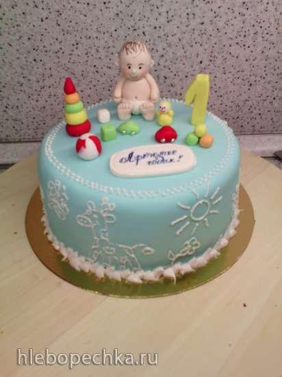 Торты на рождение, крещение, годик (не цифры)