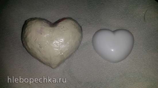 Объемное сердце из айсинга