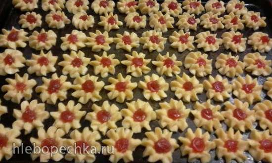 Песочное печенье отсадное «Ромашка» (по типу «Курабье»)