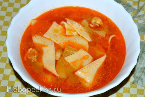 Томатный суп с болгарским перцем