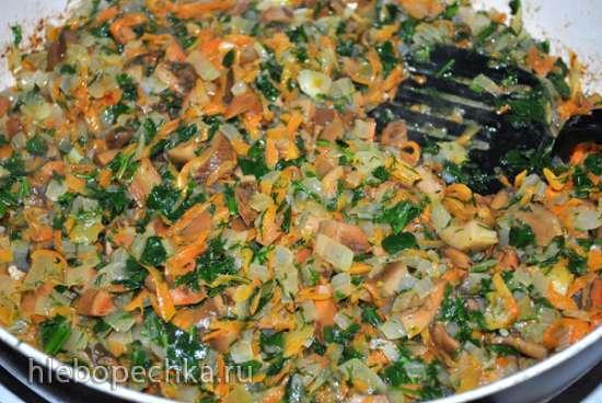 Курочка с грибами, в томатно-сметанном соусе