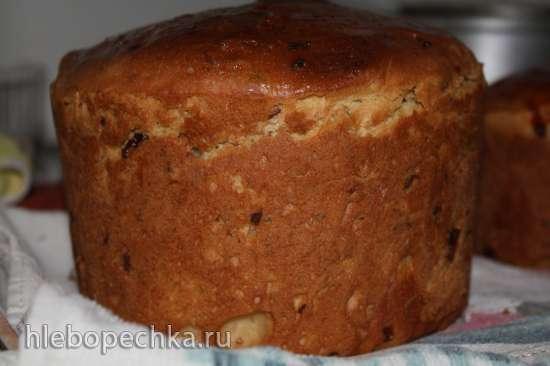 Кулич Иерусалимский Пасхальный  (рецепт для хлебопечки)