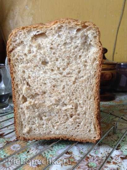 Хлеб цельнозерновой с льняной мукой Сам себя заквашу