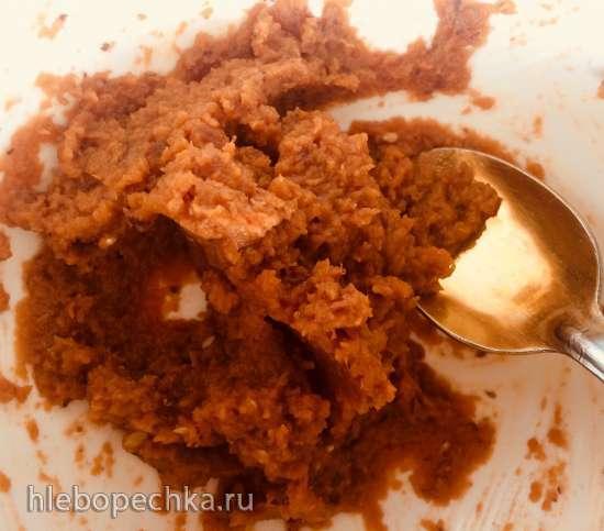 Десертная паста из батата с финиками (постное блюдо)