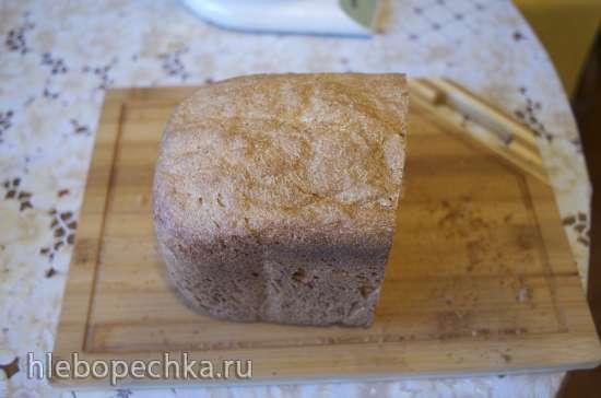 100% цельнозерновой пшеничный хлеб с отрубями в хлебопечке