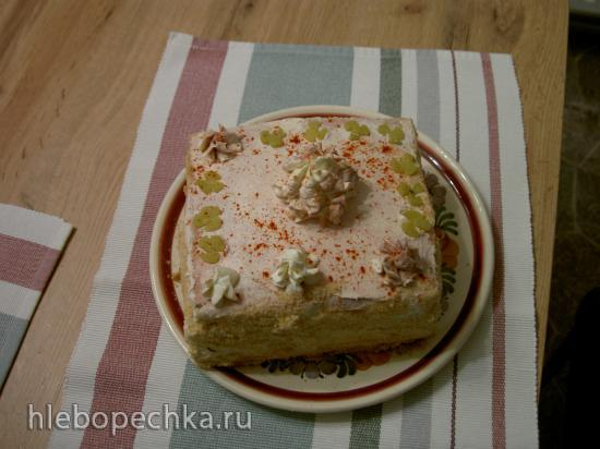 Торт-бутерброд. Угощение для настоящих мужчин