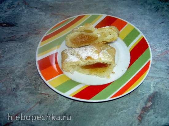 Слоеные конвертики с яблочным повидлом