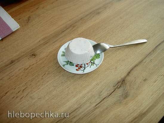 Творожно-клубничное суфле на агар-агаре под клубничным соусом
