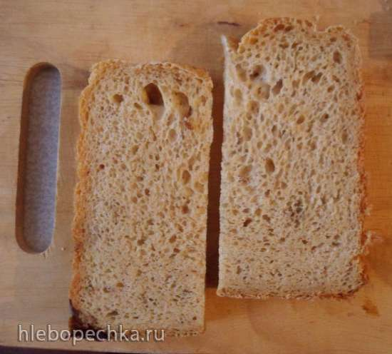 Philips HD9046. Долгий пшеничный хлеб с овсяным толокном и финиками