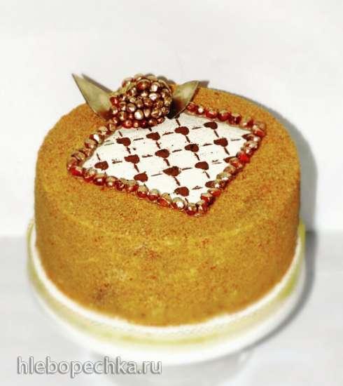 Торт-медовик Медовый рай